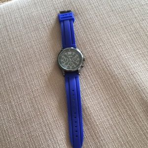 Breda watch with blue rubber band